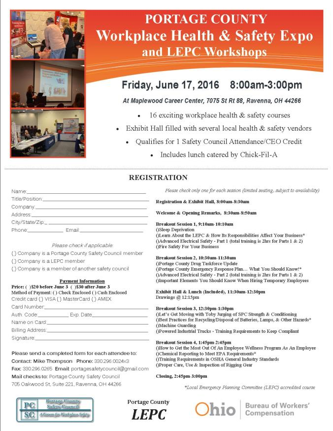 2016 Portage County Workplace Health & Safety Expo