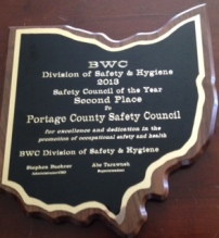 2nd Place - 2013 Safety Council of the Year